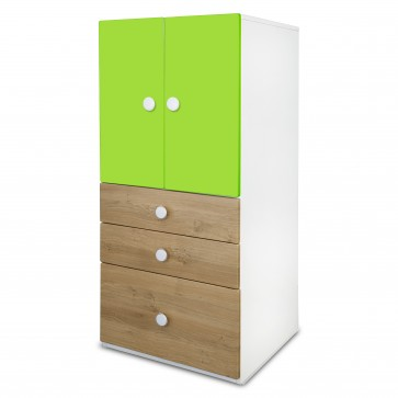Country - Two door wardrobe | two door wardrobe with drawers