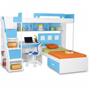 Milano Bunk Bed with Study Table & Chair