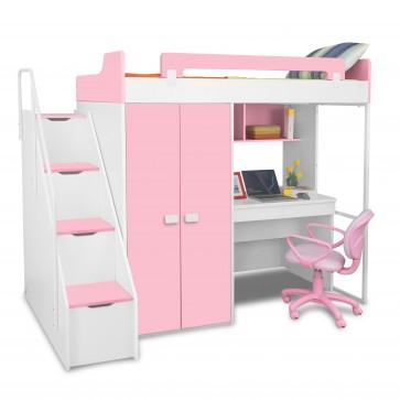 Boston - Kids Bunk Bed | Bunk Bed with Slide | Bunk Beds | Princess bunk bed | Loft Bunk beds