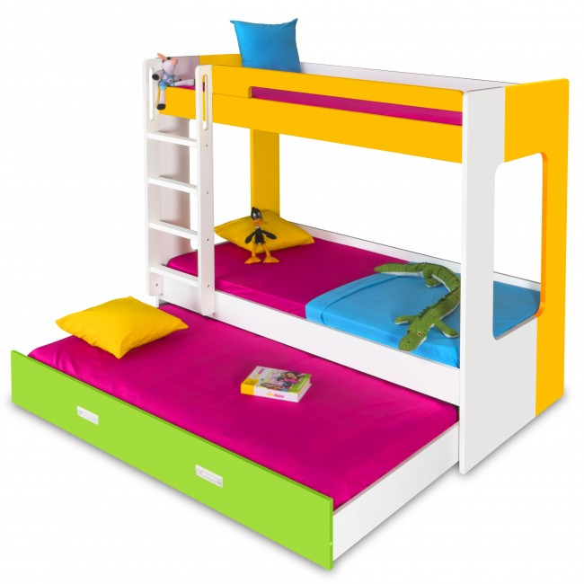 Manhattan - Bunk Bed - Yellow/White/Green2