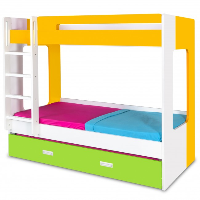 Manhattan - Bunk Bed - Yellow/White/Green4