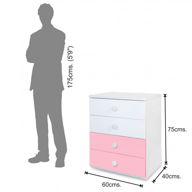 Victoria - Chest of Drawer - Pink6