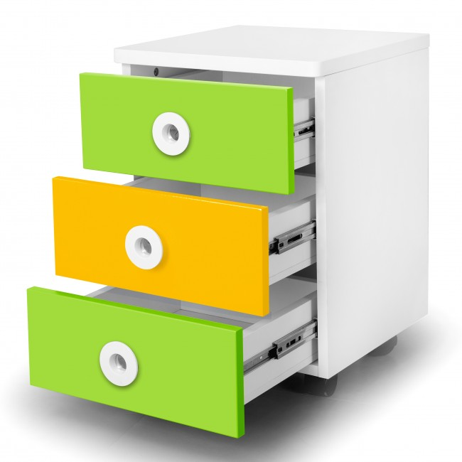 Prism - Movable Drawer Set - Yellow/Green2