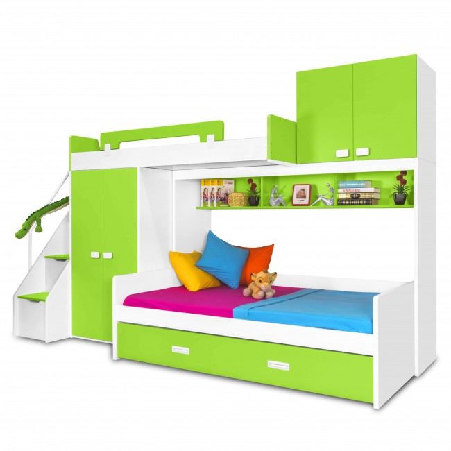 Play - Kids Bunk Bed | Bunk Bed with Slide | Bunk Beds | Princess bunk bed | Loft Bunk beds