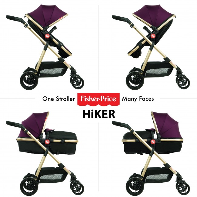 Fisher Price - Hiker Luxury Stroller Cum Pram-2