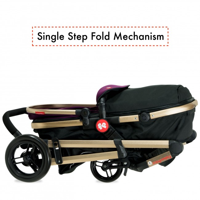 Fisher Price - Hiker Luxury Stroller Cum Pram-8