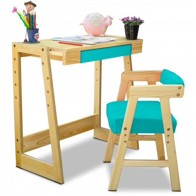 Pineworks   Kids Study Desk And Chair Set