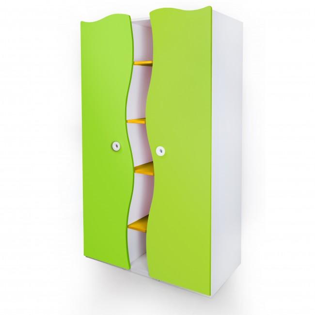 Prism - Two door wardrobe | two door wardrobe with drawers