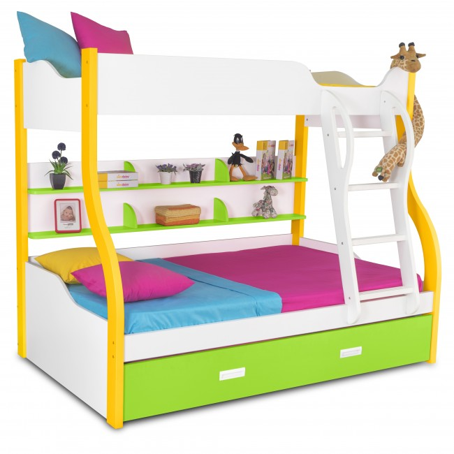 Columbia - Kids Bunk Bed | Bunk Bed with Slide | Bunk Beds | Princess bunk bed | Loft Bunk beds