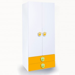Panda - Two door wardrobe | two door wardrobe with drawers