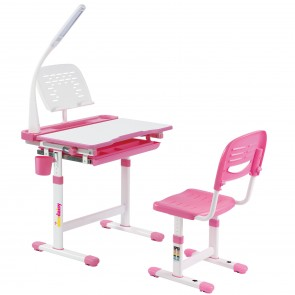 Alex Daisy Pluto Kids Height Adjustable Study Table & Chair Set With LAMP