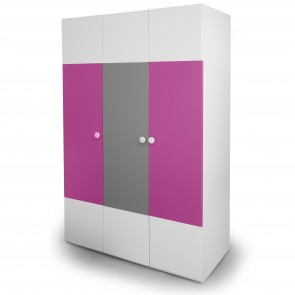 Solo - three door wardrobe