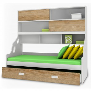 Hybrid - Kids Bunk Bed | Bunk Bed with Slide | Bunk Beds | Princess bunk bed | Loft Bunk beds
